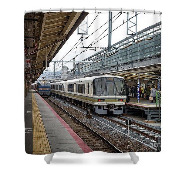 Kyoto To Osaka Train Station, Japan Shower Curtain