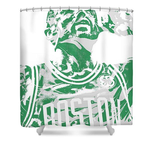 Kyrie Irving Boston Celtics Pixel Art 41 Shower Curtain