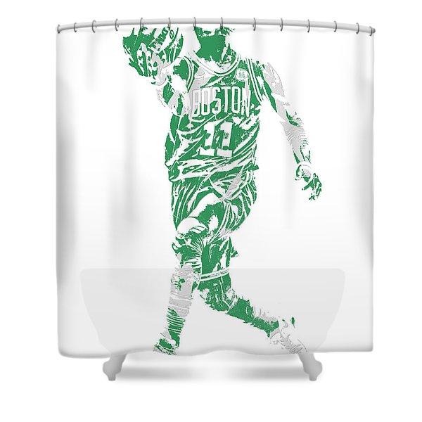 Kyrie Irving Boston Celtics Pixel Art 43 Shower Curtain