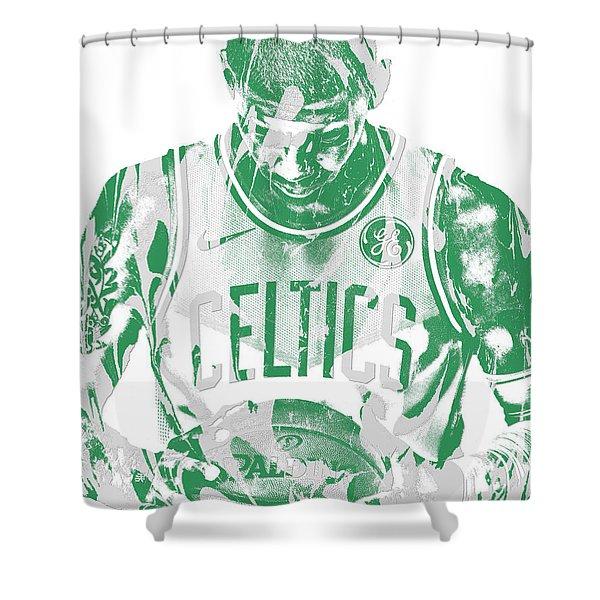 Kyrie Irving Boston Celtics Pixel Art 5 Shower Curtain