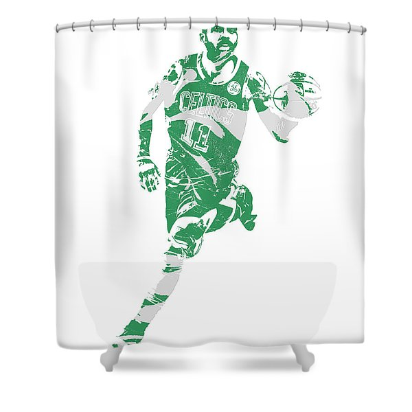 Kyrie Irving Boston Celtics Pixel Art 60 Shower Curtain