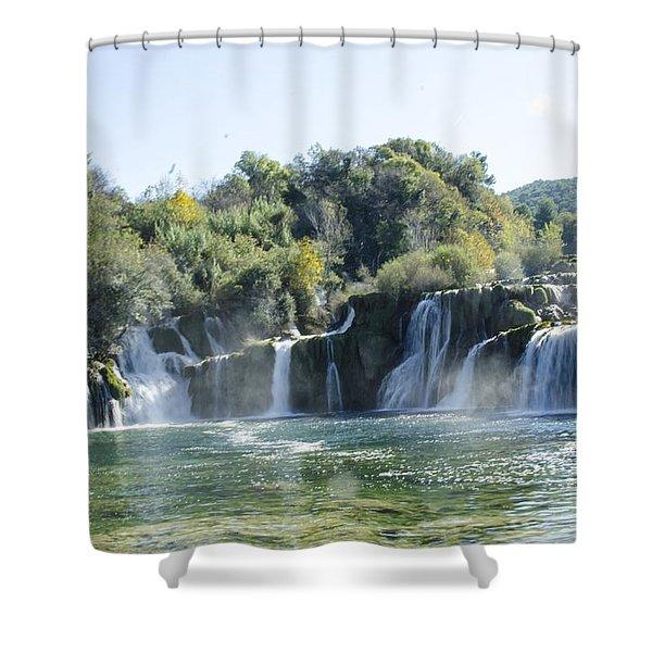 Kyrka Waterfalls Shower Curtain