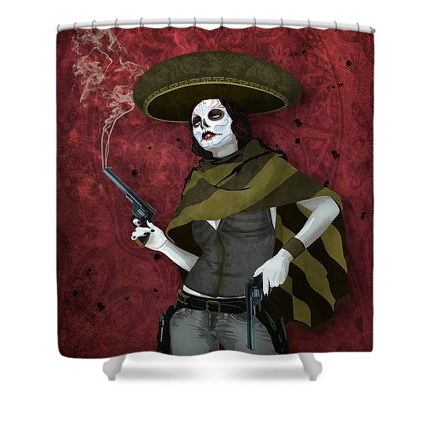 La Bandida Muerta Shower Curtain
