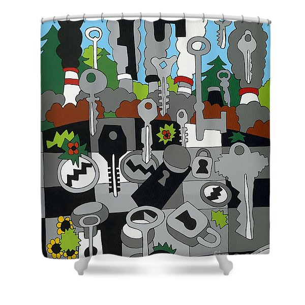 La Basin Shower Curtain