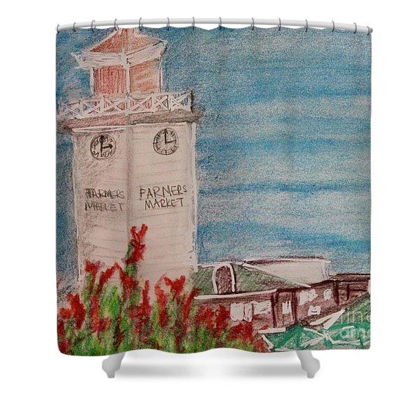 La Farmer's Market Shower Curtain