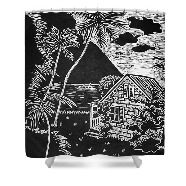 La Isla Santa Lucia Shower Curtain