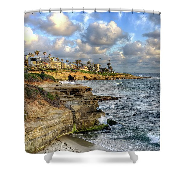 La Jolla Coastline Shower Curtain