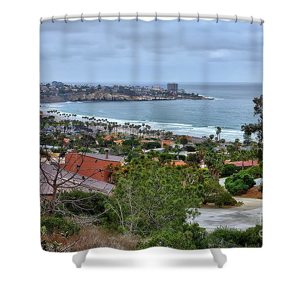 La Jolla Shoreline Shower Curtain