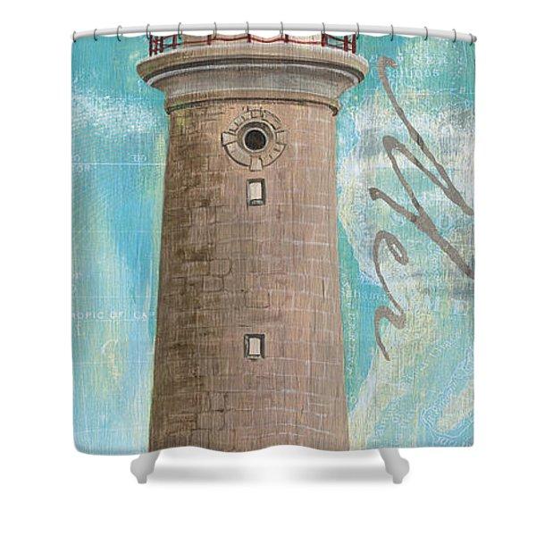 La Mer Lighthouse Shower Curtain