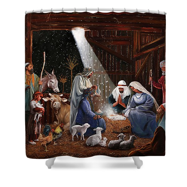 La Nativita' Shower Curtain