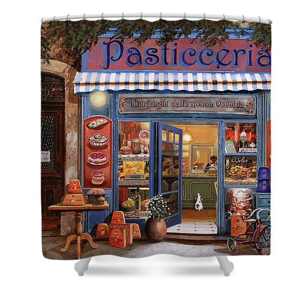 La Pasticceria Shower Curtain