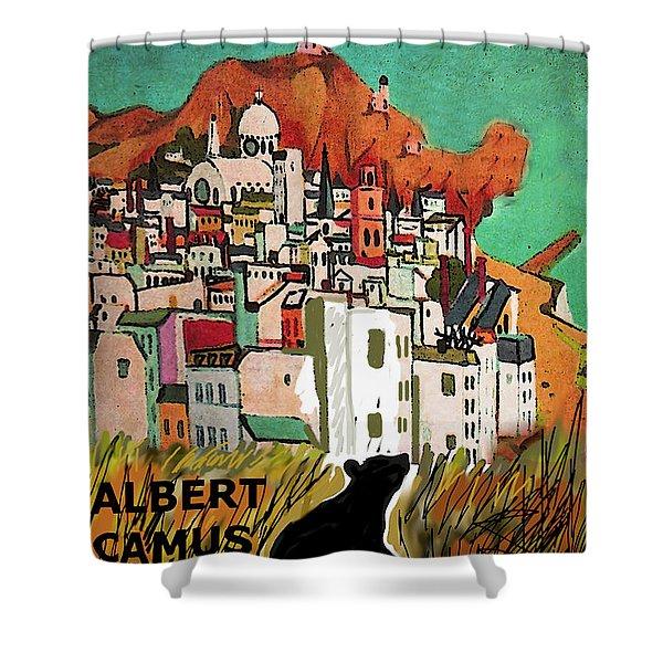 La Peste  Albert Camus Poster Shower Curtain