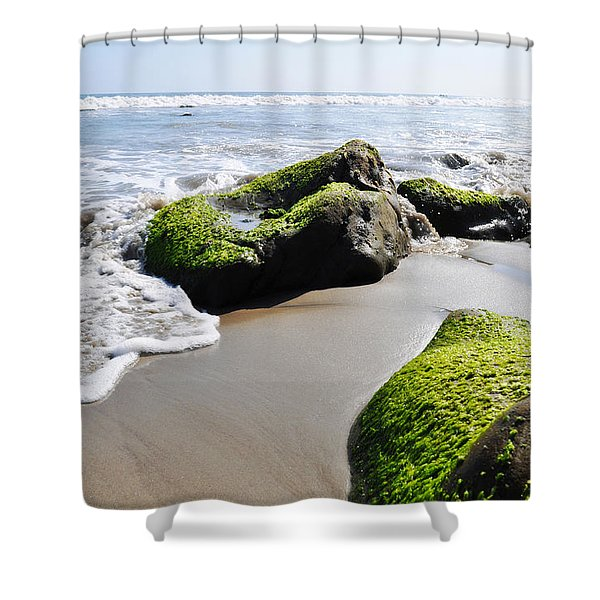La Piedra Shore Malibu Shower Curtain