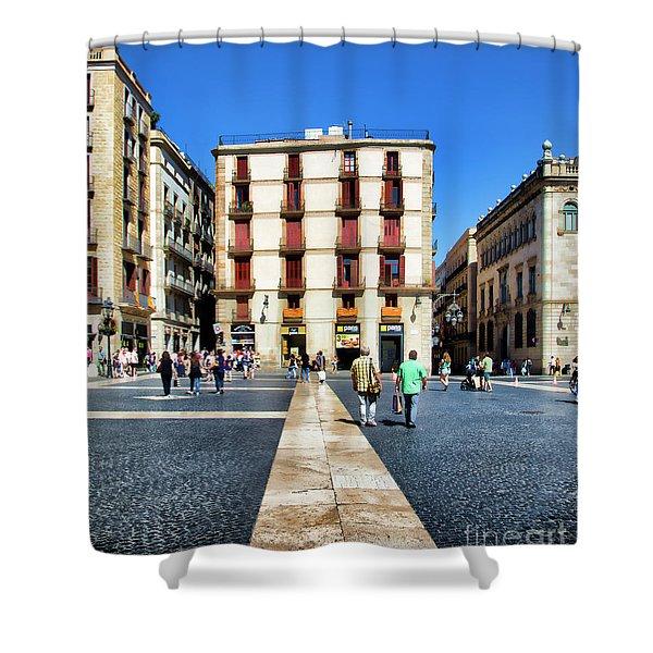 La Rambia Barcelona Spain  Shower Curtain