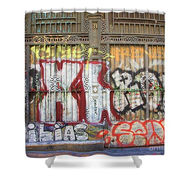 La Rambia Graffiti II Shower Curtain