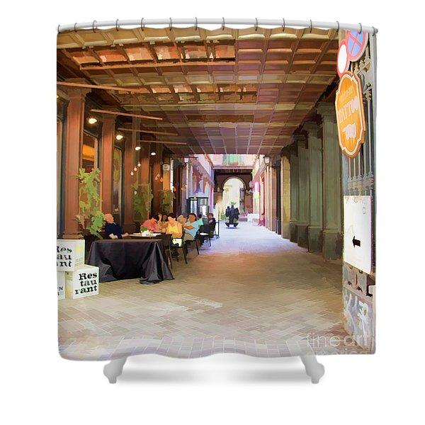 La Rambia Restaurant IIi Shower Curtain