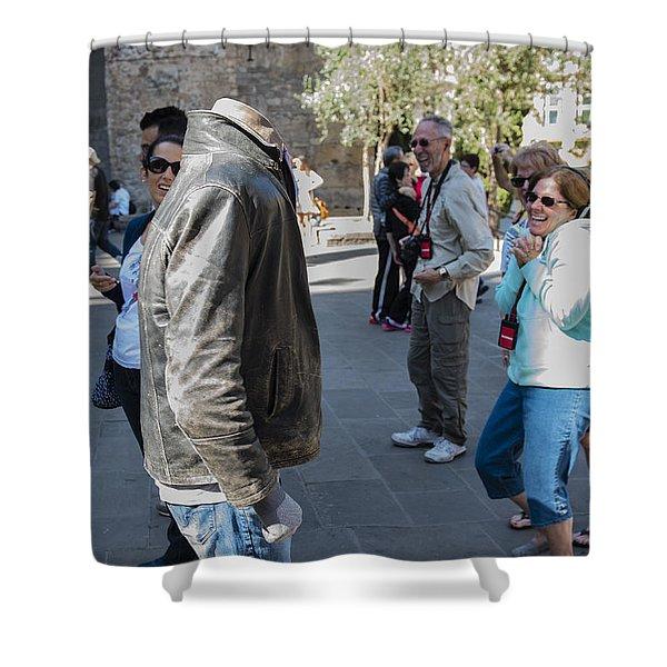 Headless In Barcelona - La Rambla - Barcelona Spain Shower Curtain