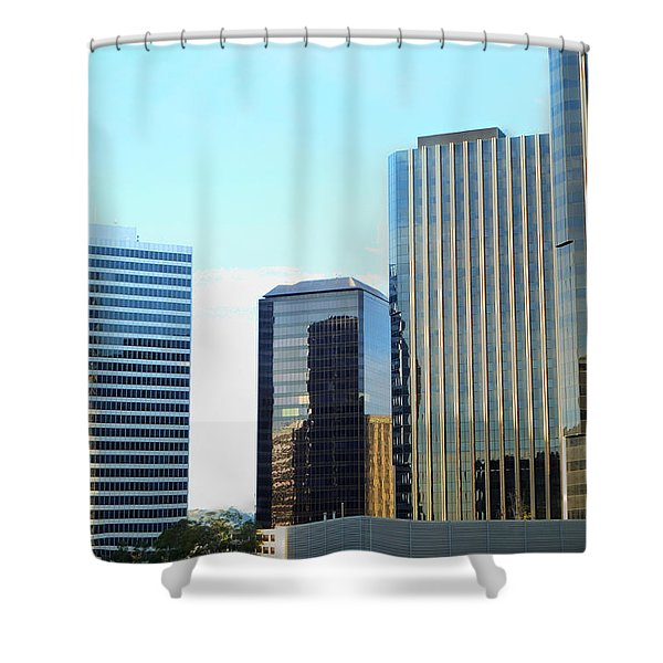 La Reflective Shower Curtain
