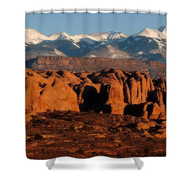 La Sal Mountains Shower Curtain
