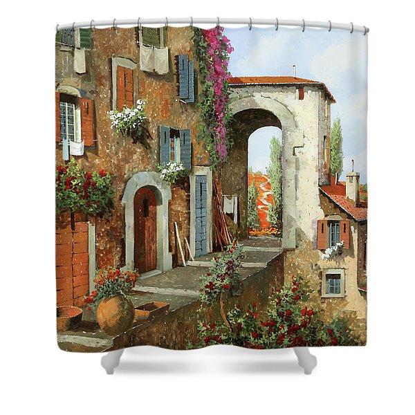 La Stradina Tra I Campi Rossi Shower Curtain