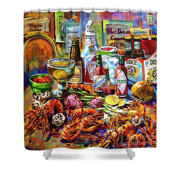 La Table De Fruits De Mer Shower Curtain