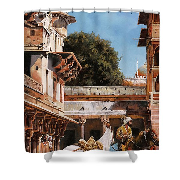 La Torre Bianca Shower Curtain