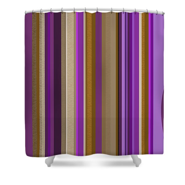 Large Purple Abstract - Two Shower Curtain