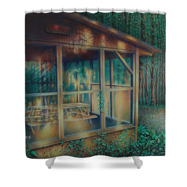 Labor Day Lights Shower Curtain
