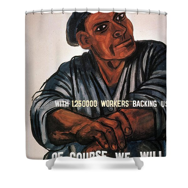 Labor Poster, 1930s Shower Curtain