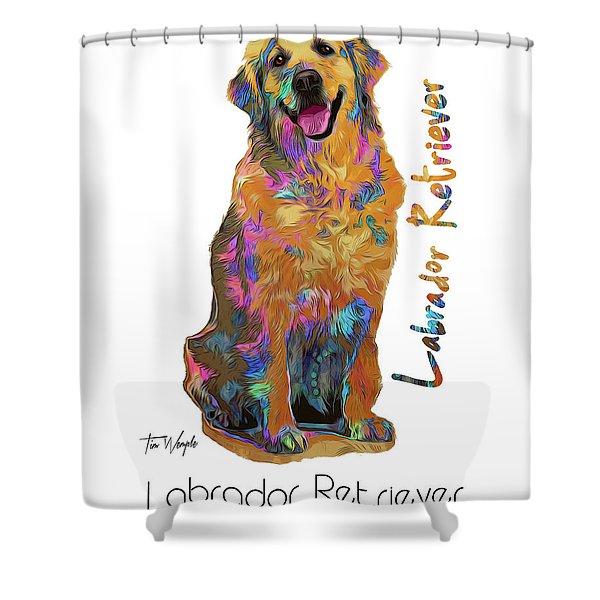 Labrador Retriever Pop Art Shower Curtain