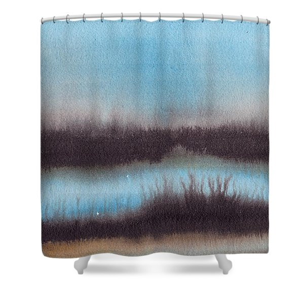 Lac Au Soir Shower Curtain