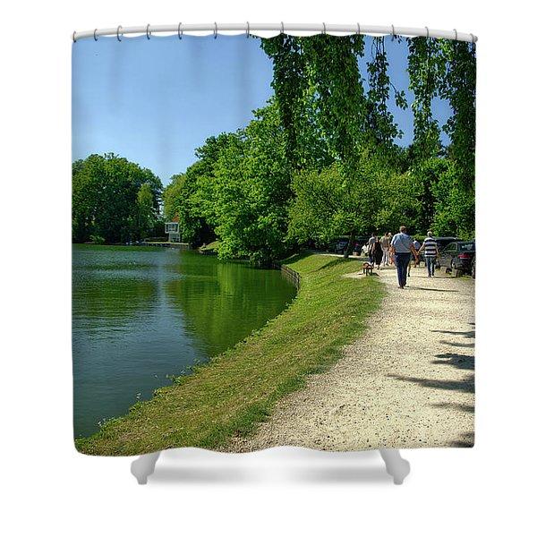 Lac De Genval Shower Curtain