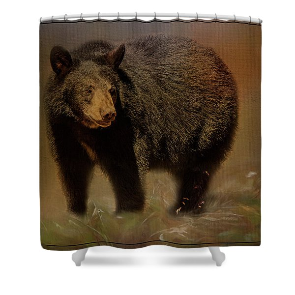 Black Bear In The Fall Shower Curtain