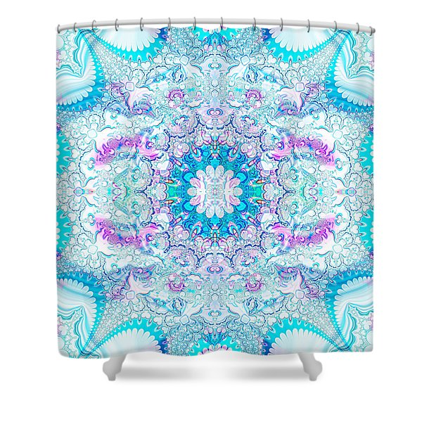 Shower Curtain featuring the digital art Lacy Mandala by Bee-Bee Deigner