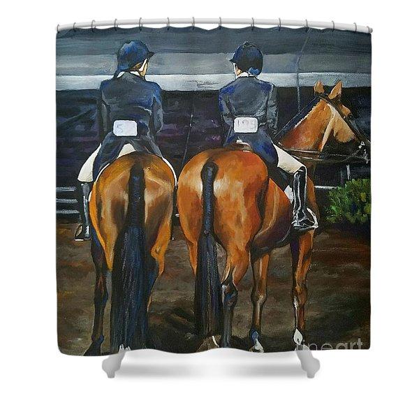 Ladies At Sussex Hunt Night Shower Curtain
