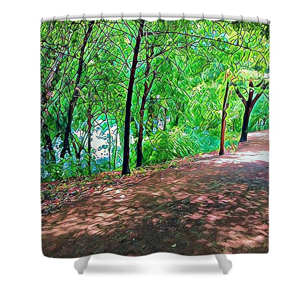 Lady Bird Trail Shower Curtain