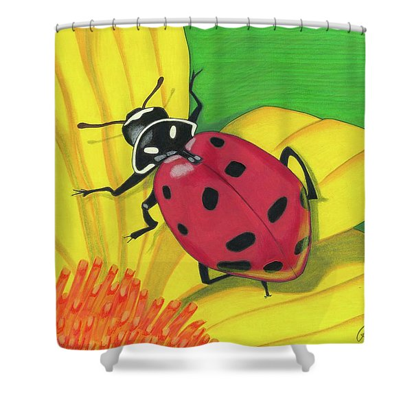 Spring Lady Shower Curtain
