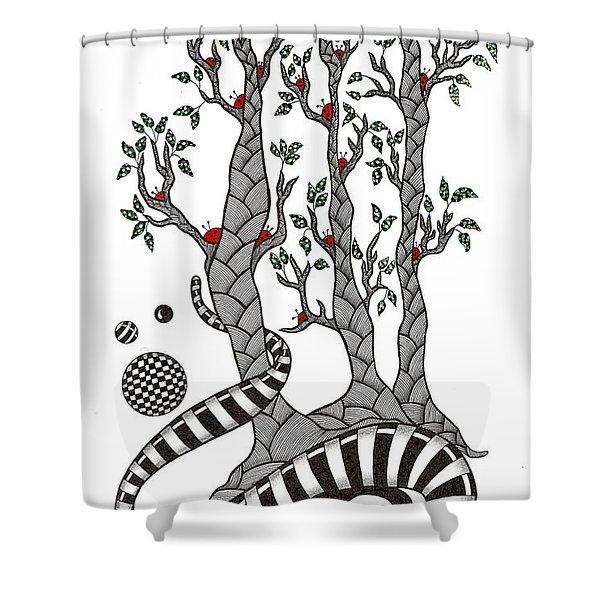 Lady Bug Tree Shower Curtain