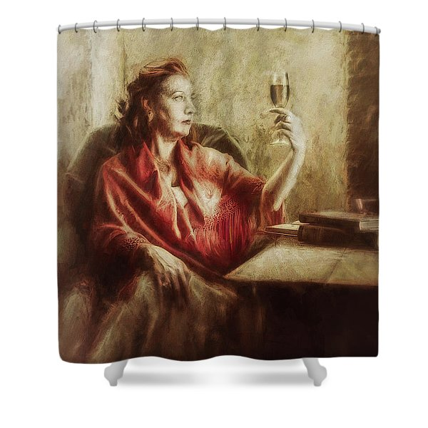 Lady By The Window Shower Curtain