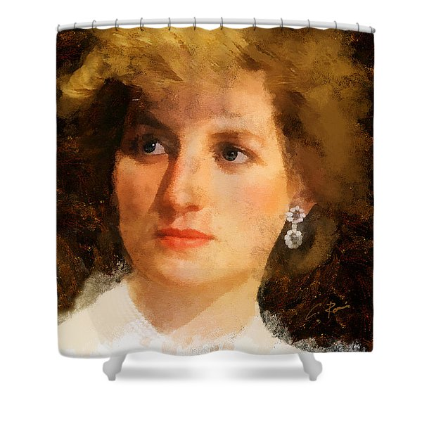 Lady Diana Shower Curtain