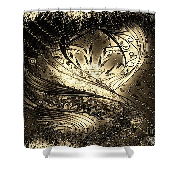 Lady Featured Shower Curtain