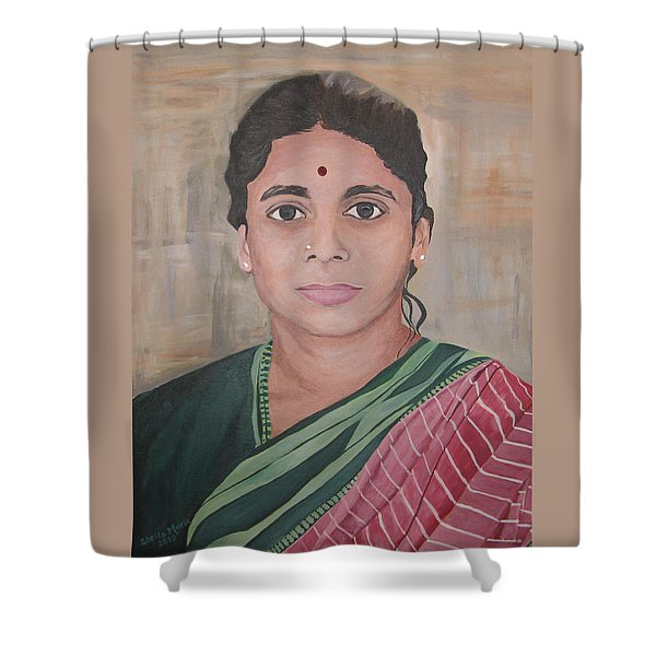 Lady From India Shower Curtain