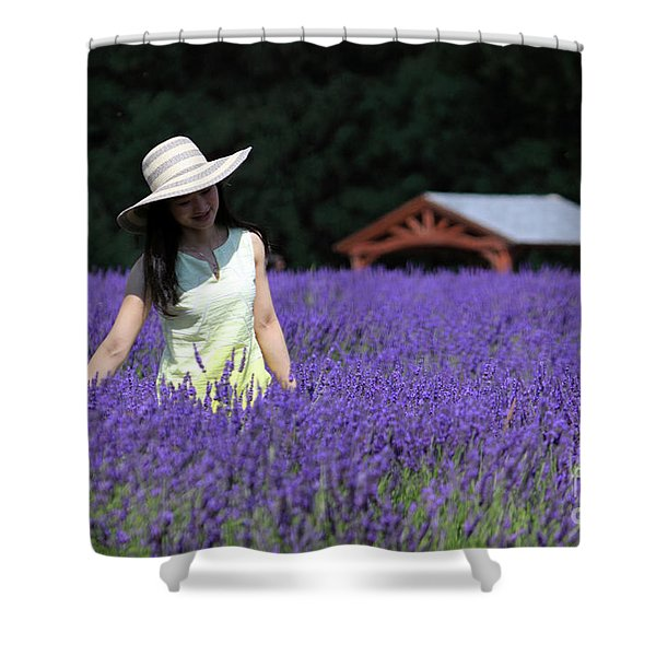Lady In Lavender Shower Curtain