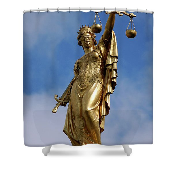 Lady Justice In Bruges Shower Curtain