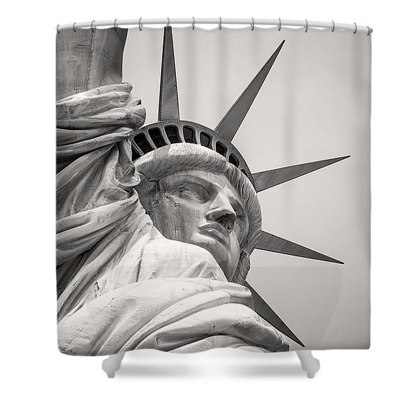 Lady Libety In Black And White Shower Curtain