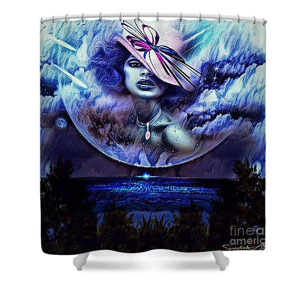 Lady Moon Light  Shower Curtain
