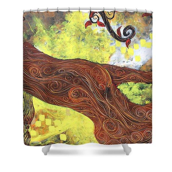 Lady Of Elation Shower Curtain