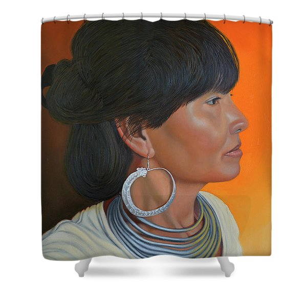 Lady Of Sapa Shower Curtain