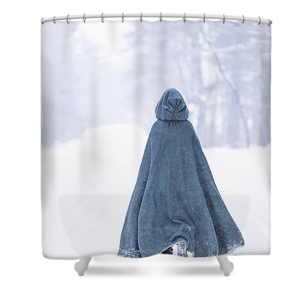 Lady Of Winter Shower Curtain