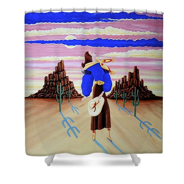Lady On The Range Shower Curtain